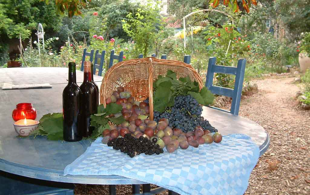 Table-with-Wine-and-fruit